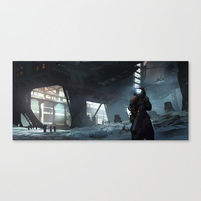 Cobalt Station Canvas Print