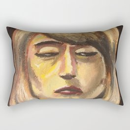 Sunken in sleep Rectangular Pillow