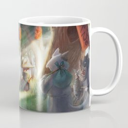 Samurai Shiba Inu strolling at the Forest Market Coffee Mug