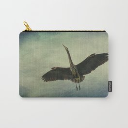 Great Blue Heron in the Night Sky Carry-All Pouch