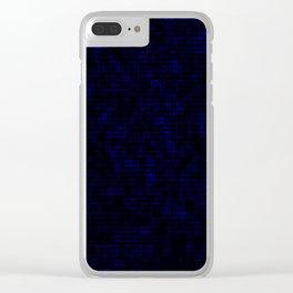 Dark Blue Pixels Clear iPhone Case