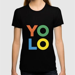 YOLO - Fun Colorful Letters T-shirt