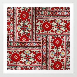 traditional bulgarian embrodeiry _1 Art Print