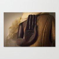 buddhism Canvas Prints featuring BUDDHISM POSTURE by Elizabeth Char