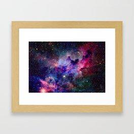 Galaxy Universe Stars Framed Art Print