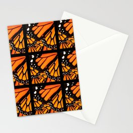 BLACK-ORANGE MONARCH BUTTERFLY WING PATTERNS Stationery Cards