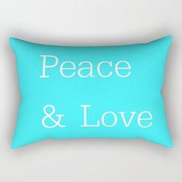 Peace & Love Aqua Rectangular Pillow