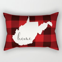 West Virginia is Home - Buffalo Check Plaid Rectangular Pillow