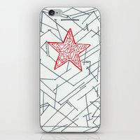 winter soldier iPhone & iPod Skins featuring Winter Soldier by Katie Kephart