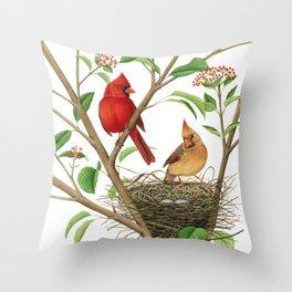 Northern Cardinals Throw Pillow
