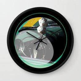FUZZY DICE Wall Clock
