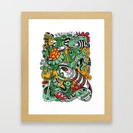 Snake - 12 Animal Signs Framed Art Print