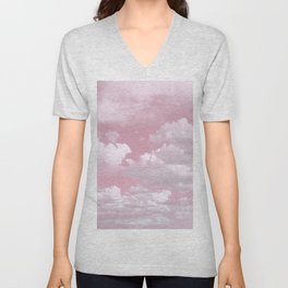 Clouds in a Pink Sky Unisex V-Neck