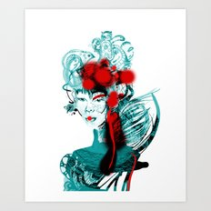 Japanese Girl Art Print