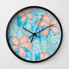 Vintage Hawaiian Tropical Print Wall Clock