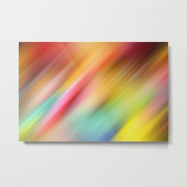 Abstract of multiple colors blending into each other Metal Print