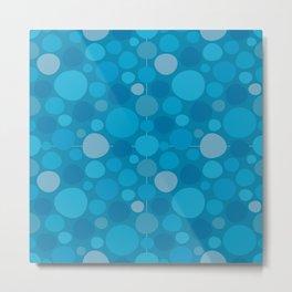 Blue Dots Metal Print
