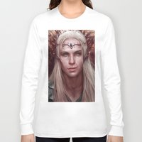 thranduil Long Sleeve T-shirts featuring Thranduil Portrait by Jay Lockwood Carpenter