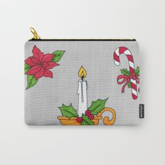 Merry Christmas! (grey) Carry-All Pouch
