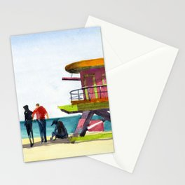 Miami Beach Lifeguard Stand Stationery Cards