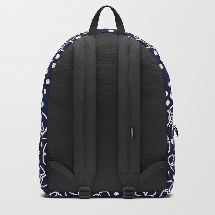 Vintage floral pattern 1920s Backpack