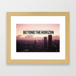 Beyond the Horizon Framed Art Print