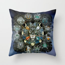 """""""Astrological Mechanism - Zodiac"""" Throw Pillow"""