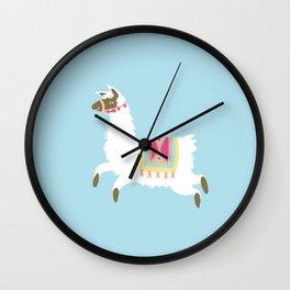 Leaping Llama Wall Clock