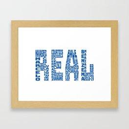 Real Madrid 2018 - 2019 Framed Art Print
