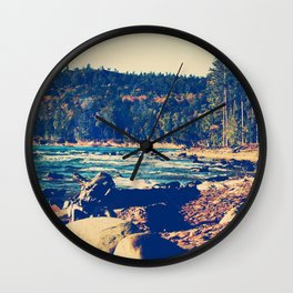 Rocky Shores of Lake Superior Wall Clock