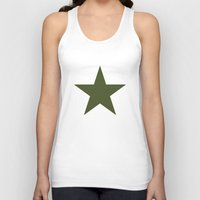 military Tank Tops featuring Vintage U.S. Military Star by Be Sweet Studios