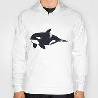 killer whale Hoodies featuring Orca/Killer Whale by Nemki