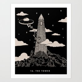 16. The Tower Art Print