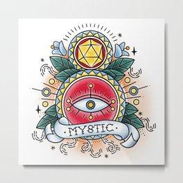 Mystic - Vintage D&D Tattoo Metal Print