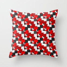 abstract geometric squares Throw Pillow