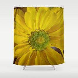 Sunny Yellow Flower Shower Curtain