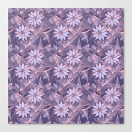 The floral pattern. Lilac flowers on abstract background. Canvas Print