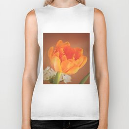 Romantic Flower Tulip Biker Tank