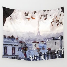 Rainy Day in Paris. Wall Tapestry