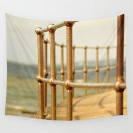 Seaside railings Wall Tapestry