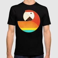 Round Bird - Macaw MEDIUM Black Mens Fitted Tee