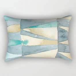 Triangle Quilt Abstract Rectangular Pillow
