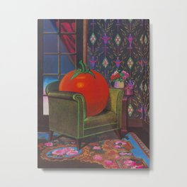 Therapy With A Tomato Milton Glaser - Tomato- Something unusual is going on here - 1978 Metal Print