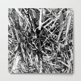 Straw black 2 Metal Print