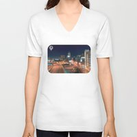 baltimore V-neck T-shirts featuring Baltimore by Andrew Mangum