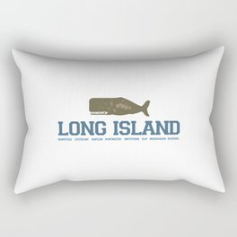 Long Island - New York. Rectangular Pillow