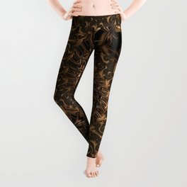 Gold Mine Spiral Leggings