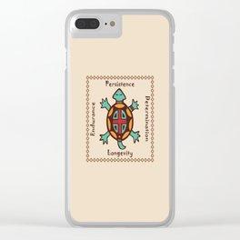 Turtle animal spirit Clear iPhone Case