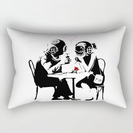 Banksy Diving in Love, Deep Divers Loving Artwork, for Wall Art, Prints, Posters, Tshirts, Men, Wome Rectangular Pillow