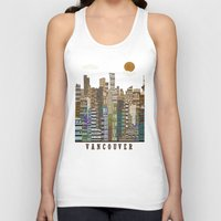 vancouver Tank Tops featuring Vancouver skyline by bri.buckley